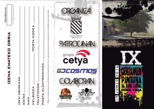 Ficha de inscripción Certamen Pintura Urroz Villa 2016