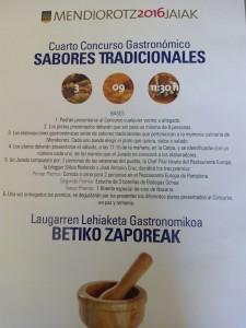 concurso gastronomico Mendioroz.