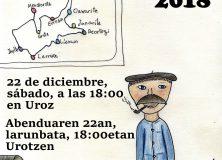 Olentzero en Lizoain-Arriasgoiti:este año en Uroz/Lizoainibar-Arriasgoitiko Olentzero, aurten Urotzen