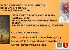 Encuentro literario con el escritor Patxi Irurzun/Patxi Irurzun idazlearekin literatur topaketa