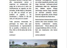 4º campeonato de Calva en Lizoain-Arriasgoiti/ 4. kalba txapelketa Lizoainibar-Arriasgoitin