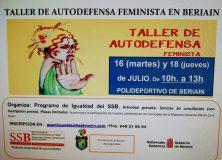 TALLER DE AUTODEFENSA FEMINISTA EN BERIAIN
