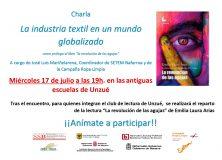"""Charla: """"La industria textil en un mundo globalizado"""""""