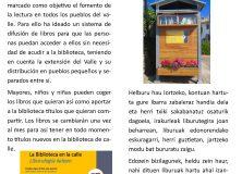 La Biblioteca en las calles de Lizoain-Arriasgoiti/Liburutegia Lizoainibar-Arriasgoitiko kaleetan
