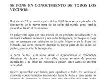 BANDO MUNICIPAL SE PONE EN CONOCIMIENTO DE TODOS LOS VECINOS: