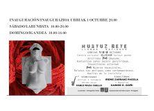 """Exposición de escultura """"Hustuz bete"""" en Elizar, Lizoain/""""Hustuz bete"""" eskultura erakusketa Elizarren, Lizoainen"""