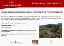 Charla de Aranzadi sobre los trabajos realizados en Ube(Lizoain)/Aranzadiren hitzaldia Uben egindako ikerketa-lanez